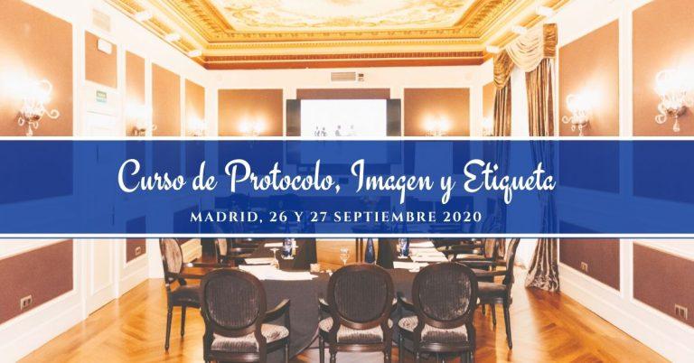 curso de protocolo imagen y etiqueta septiembre 2020